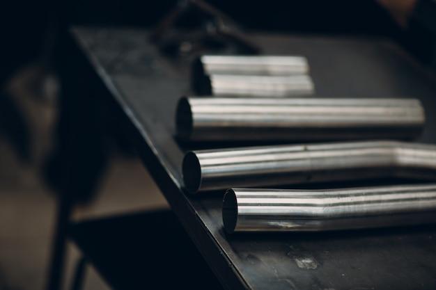 Titanium car exhaust custom pipe