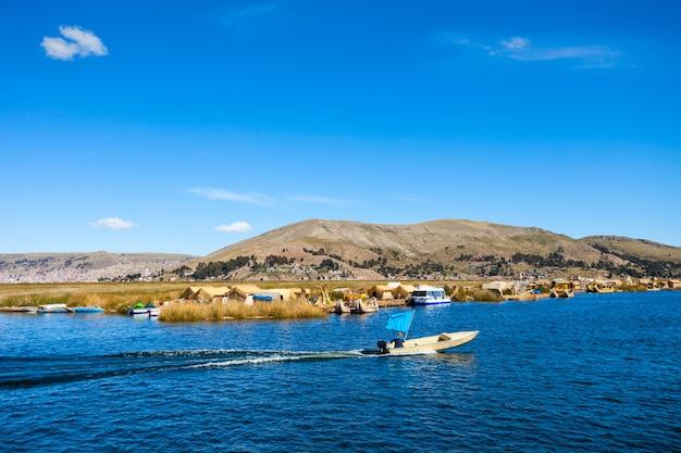 Titicaca lake in peru