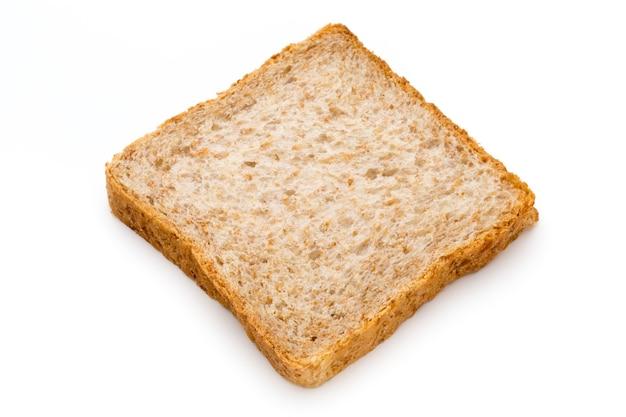 白い背景で隔離のトーストパン。