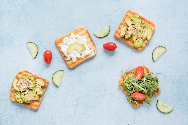 Toast con verdure