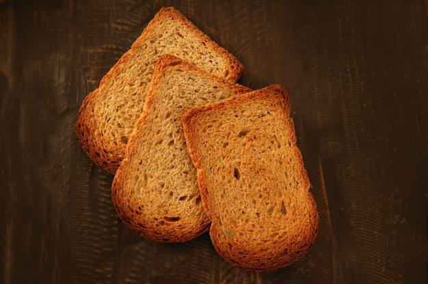 Toasted bread slices