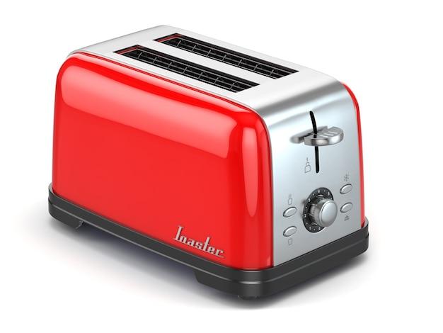 흰색 3d에 고립 된 토스터