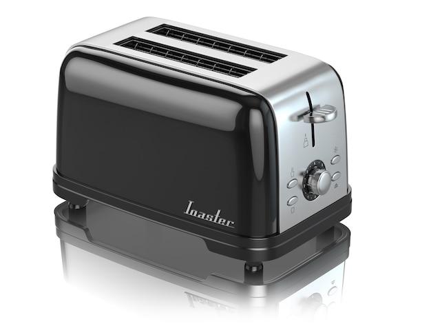 흰색 3d에 고립 된 토스터 주방 기기 장비