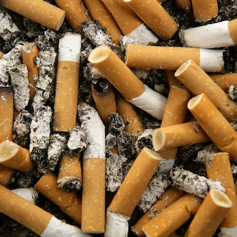 Tobacco butts, cigarette butts