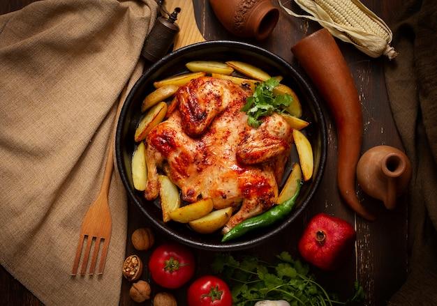 담배 치킨, 감자, 전통 그루지야 요리,
