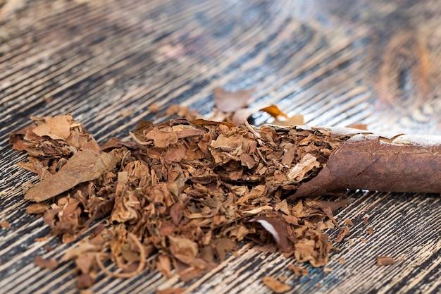 Tobacco from cigarettes