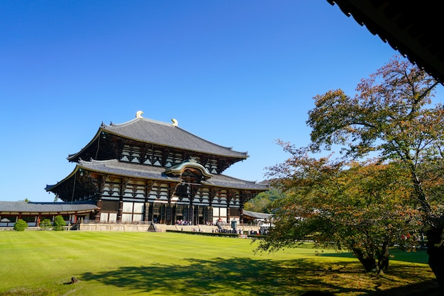 Todaiji temple in nara japan