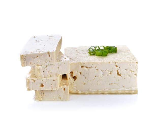 Tofu cheese on white