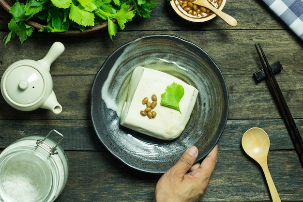 Tofu food product from soybean and celery healthy food antioxidant