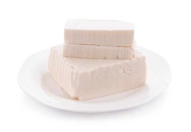 흰색 절연 접시에 두 부
