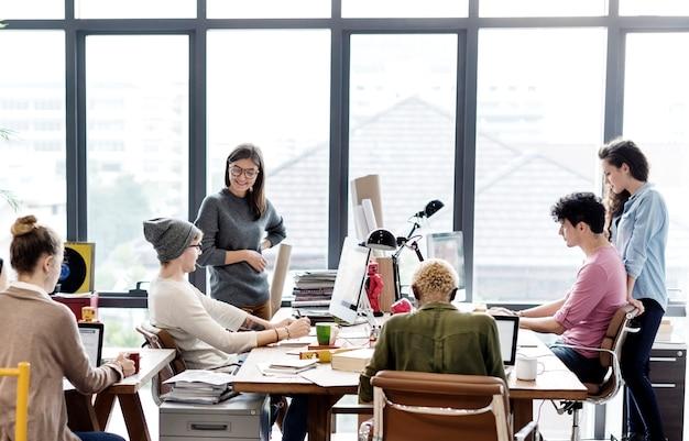 チームワークtogether professional occupation concept