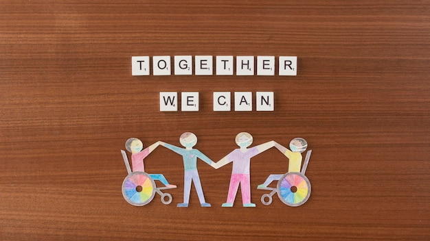Together we can help concept