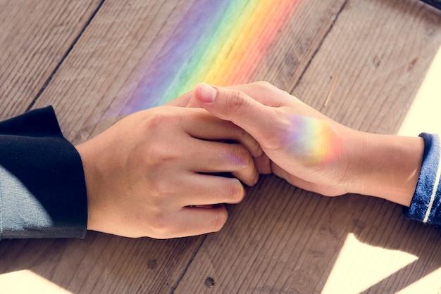 Togetherness wooden prism light cares