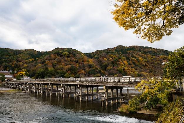 Togetsukyo bridge in autumn, arashiyama