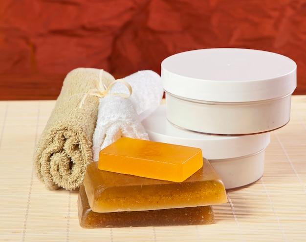 Toilet accessories for body care, spa