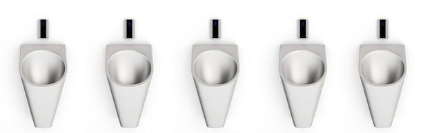 便器の3dレンダリングは、白い背景で隔離