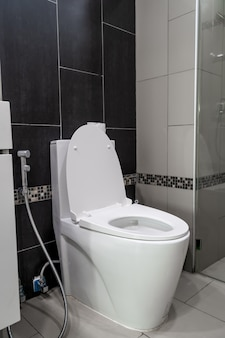 Toilet bowl placement in the bathroom