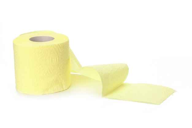 Toilet paper isolated on white