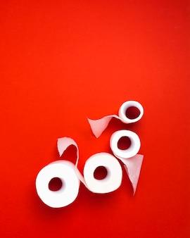 Rotoli di carta igienica con copia-spazio