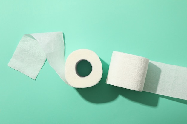 Toilet paper, top view