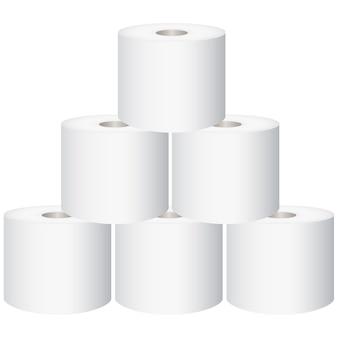 トイレットペーパー、白い背景で隔離のトイレットペーパー、ベクトル