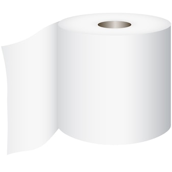 Toilet roll, toilet paper isolated on white background, vector