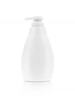 Toiletry cleansing bottle for product design mock up on white background