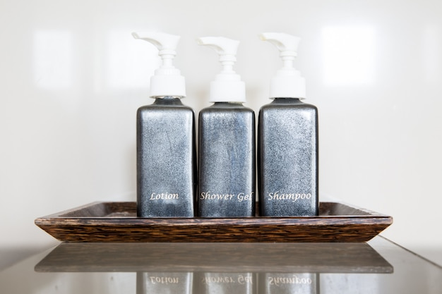 Toiletry concept with three pump bottles
