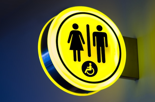 Toilets, wc icon for woman, men. female, male public restroom signs