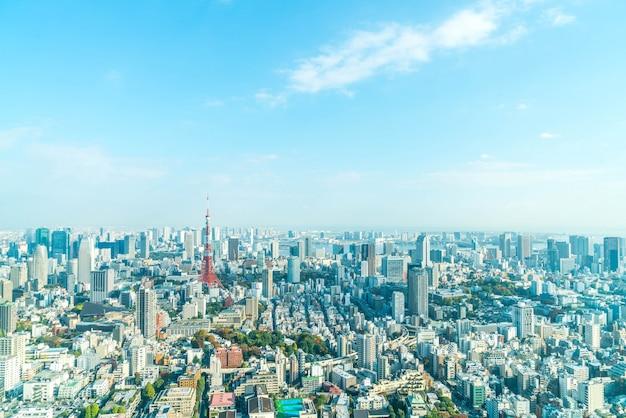 Токийский городской горизонт с токийской башней