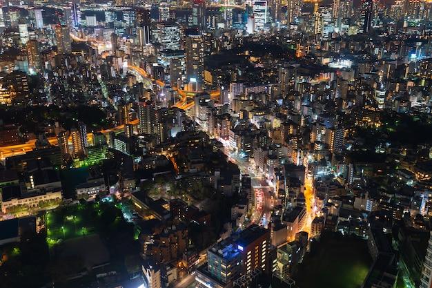 Tokyo city at twilight, japan