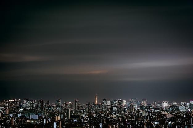 Городской пейзаж токио, япония