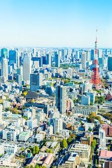 도쿄 도시 풍경 스카이 라인