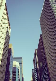 도쿄, 일본 도시 (필터링 된 이미지 처리 빈티지 효과