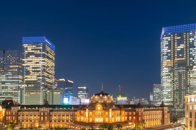 Tokyo station at night scene