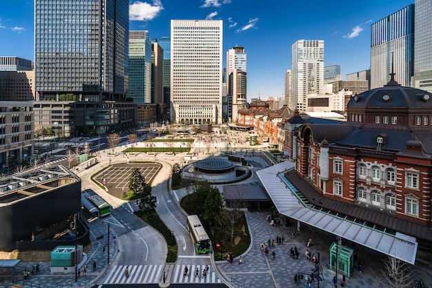 Tokyo station, a railway station in the marunouchi district in tokyo, japan