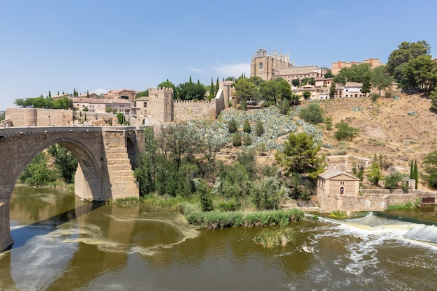 Toledo and bridge puente de san martin