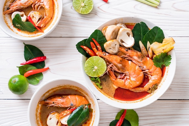 Tom yum goong spicy sour soup