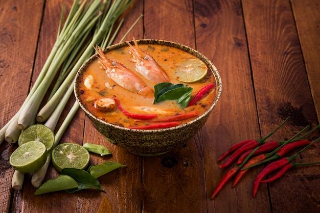 Tom yum goong, thai traditional food
