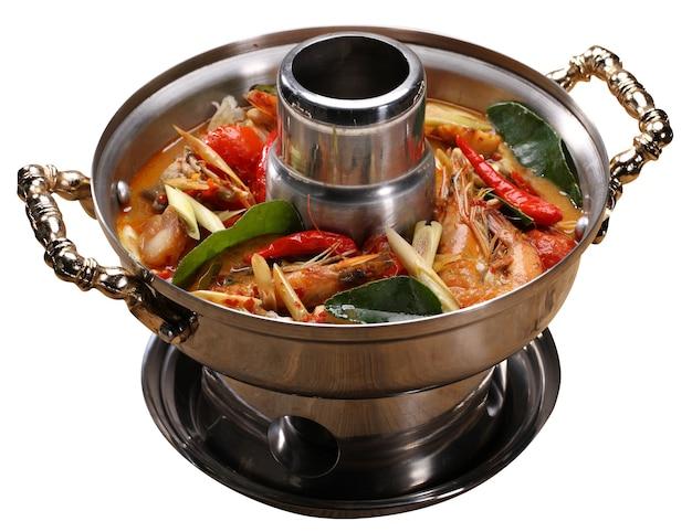 Tom yum soup with prawn