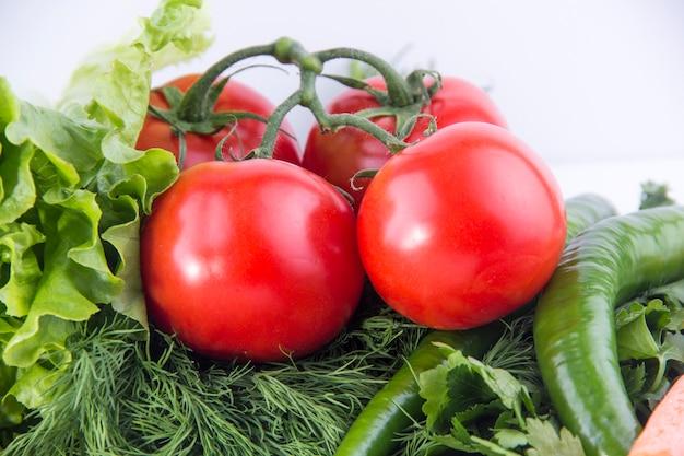 Tomates in salad ingredients