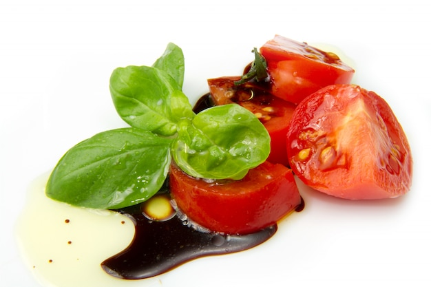 Tomato and balsamic vinegar