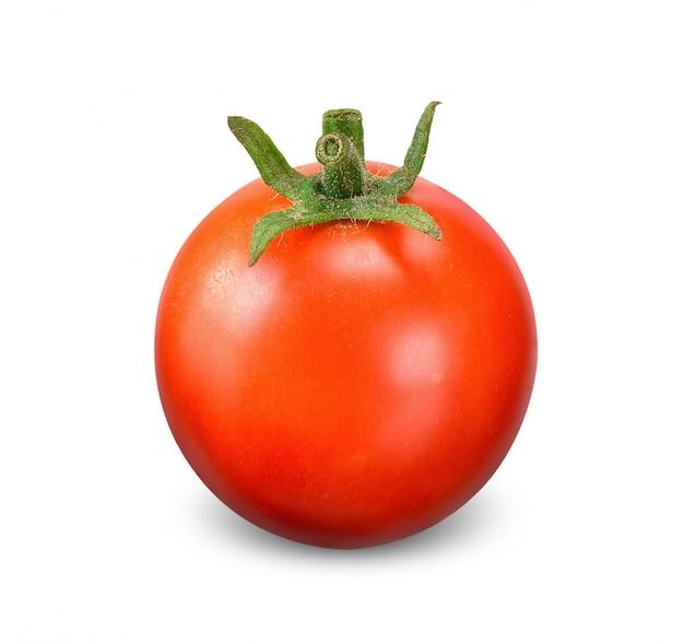 白いクリッピングパスで分離されたトマト