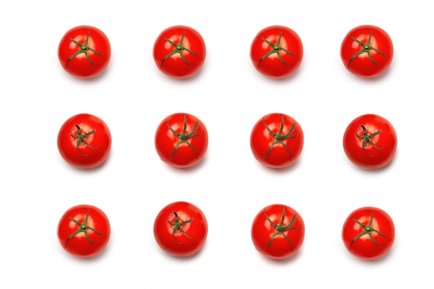 Tomato. pattern of tomato. tomato natural red isolated.