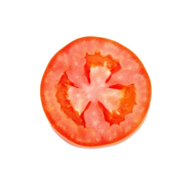 Tomato slice isolated