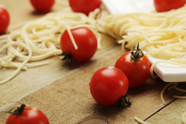 Tomato and spaghettis