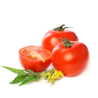 白で分離されたトマト野菜