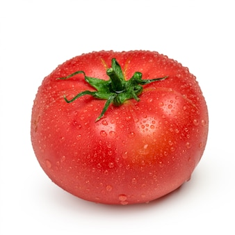 Tomato with drops isolated