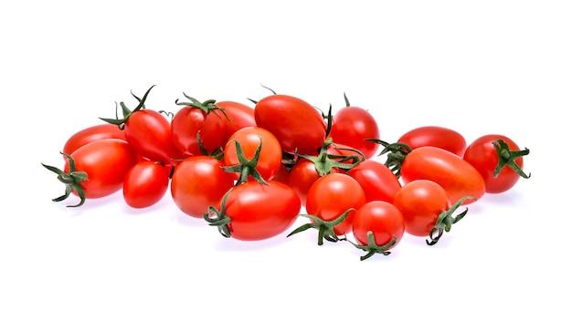 토마토 흰색 절연