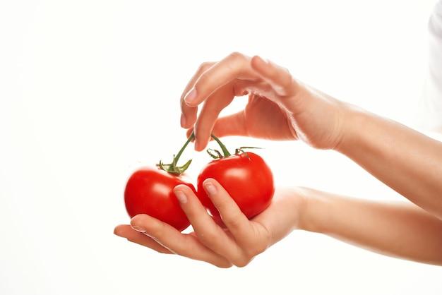 枝のトマト野菜ビタミン料理サラダ